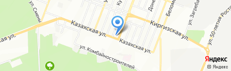 Гаянс на карте Ростова-на-Дону