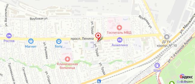 Карта расположения пункта доставки Ростов-на-Дону Ленина в городе Ростов-на-Дону