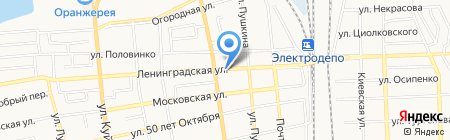 Шиномонтажная мастерская на Ленинградской на карте Батайска