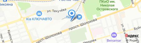 Белый квадрат на карте Ростова-на-Дону
