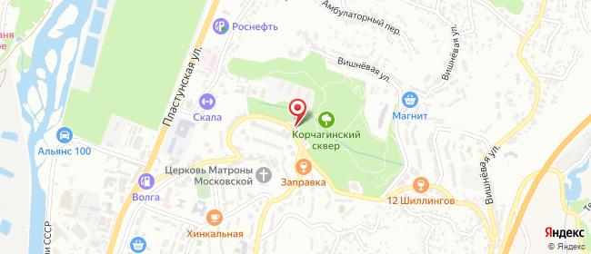 Карта расположения пункта доставки Сочи Макаренко в городе Сочи