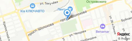 Макетка на карте Ростова-на-Дону