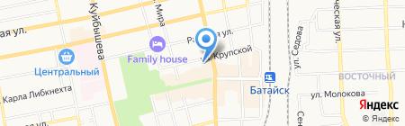 Адвокат Духова А.С. на карте Батайска