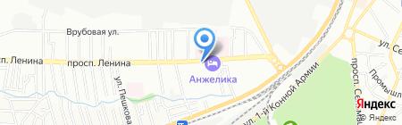 Рубикон на карте Ростова-на-Дону