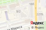 Схема проезда до компании Ника в Батайске
