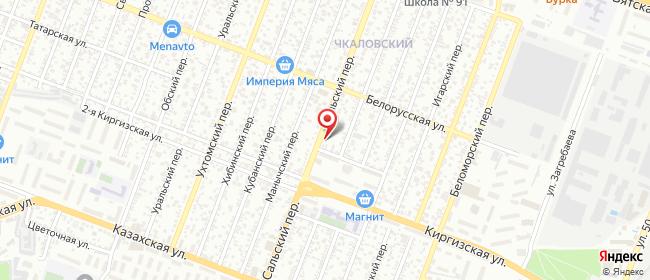 Карта расположения пункта доставки Переулок Сальский в городе Ростов-на-Дону