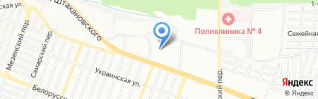 Детский сад №287 Радуга на карте Ростова-на-Дону