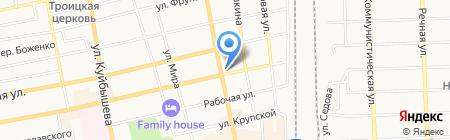 Продуктовый магазин на ул. Энгельса на карте Батайска