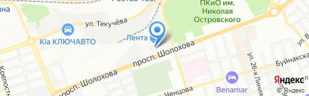 Ростов-Реклама на карте Ростова-на-Дону