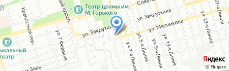 Мерси Дар на карте Ростова-на-Дону