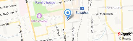 Батайск на карте Батайска