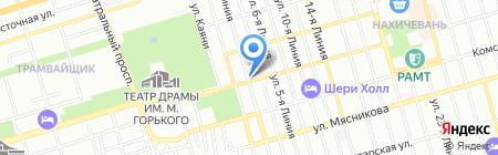 Восход на карте Ростова-на-Дону