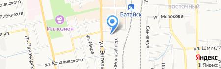 Продуктовый магазин на ул. Урицкого на карте Батайска