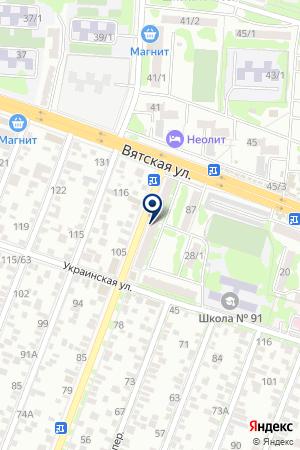 Аврора-Сити на карте Ростова-на-Дону