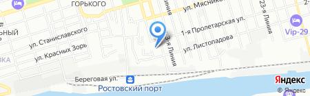 Портовик на карте Ростова-на-Дону