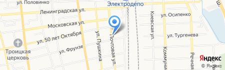 Продуктовый магазин на Почтовой на карте Батайска