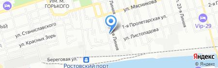 Катюшка на карте Ростова-на-Дону