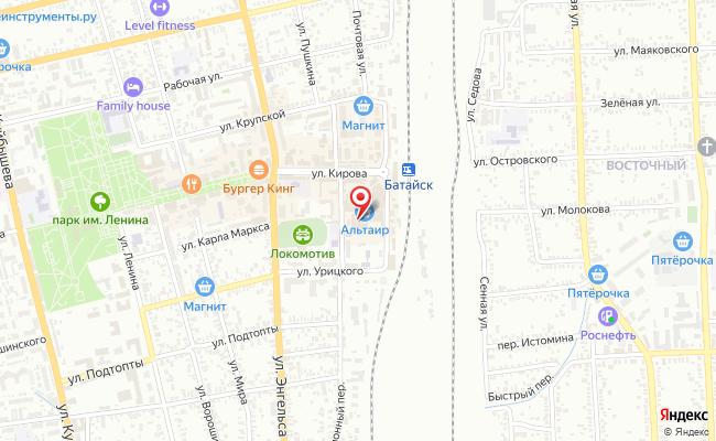 Карта расположения пункта доставки Пункт выдачи заказов — магазин АНТОН в городе Батайск