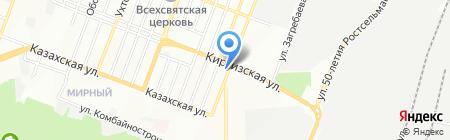 Окноград на карте Ростова-на-Дону