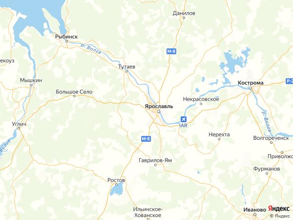 деревня Ивановский Перевоз на карте