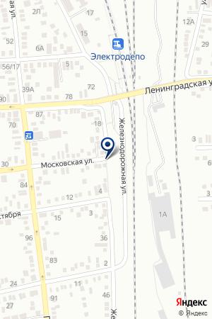 БАТАЙСКАЯ ЖЕЛЕЗНОДОРОЖНАЯ СТАНЦИЯ СЕВЕРО-КАВКАЗСКАЯ ЖЕЛЕЗНАЯ ДОРОГА на карте Батайска