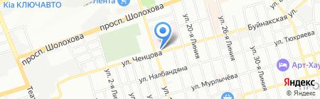Росздравнадзор на карте Ростова-на-Дону