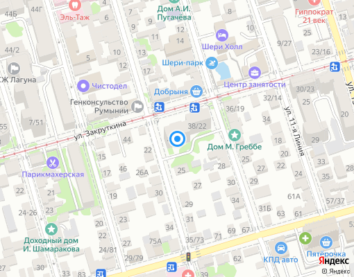 Товарищество собственников жилья «МУП ЖЭУ-5» на карте Ростов-на-Дону