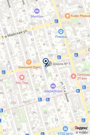 МОУ ШКОЛА № 1 на карте Советской