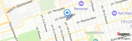 Стеклоцентр на карте Ростова-на-Дону