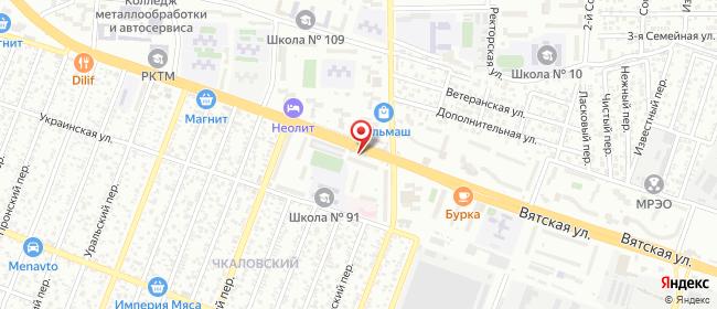 Карта расположения пункта доставки Билайн в городе Ростов-на-Дону