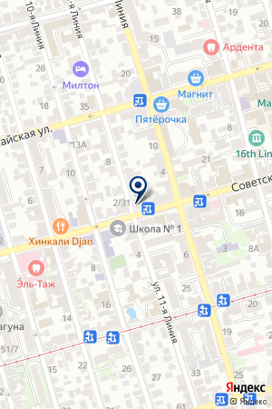 АГЕНТСТВО НЕДВИЖИМОСТИ ТЯЖТЕПЛОПРОЕКТ на карте Советской