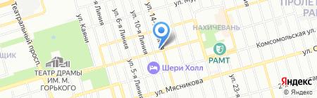 Бренд на карте Ростова-на-Дону