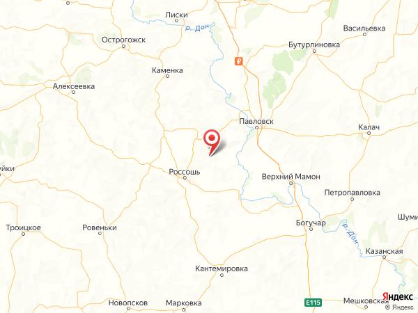 хутор Комарово на карте