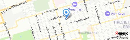Ростоблстрой на карте Ростова-на-Дону