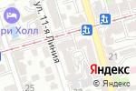 Схема проезда до компании Телец в Ростове-на-Дону