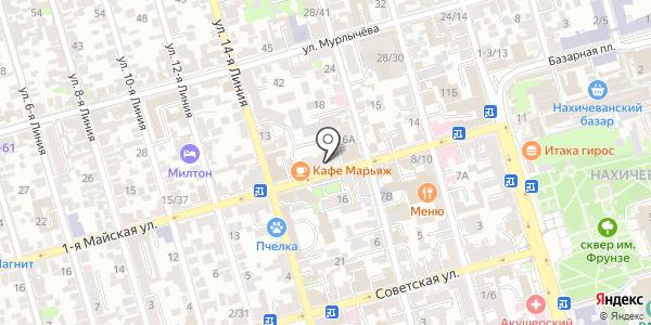 Магнит. Схема проезда в Ростове-на-Дону