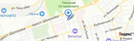 Аптека №365 на карте Ростова-на-Дону