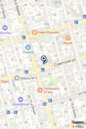 ФИЛИАЛ Г.НОВОШАХТИНСКА РОСТОВСКАЯ ОБЛАСТНАЯ КОЛЛЕГИЯ АДВОКАТОВ на карте Советской