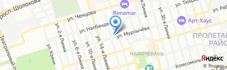 Стройиндустрия на карте Ростова-на-Дону