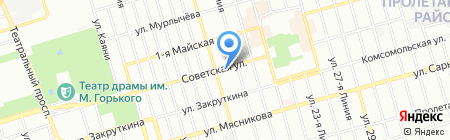 Аптека №23 на карте Ростова-на-Дону