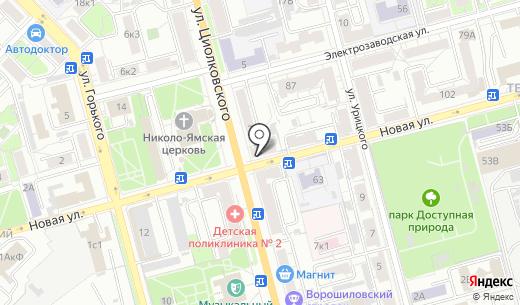 ОПТИМА-Мебель. Схема проезда в Рязани