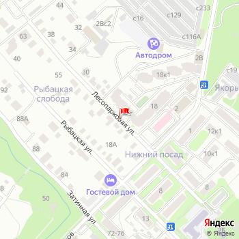 г. Рязань, ул. Лесопарковая, на карта
