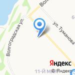 Отдел военного комиссариата Ярославской области по Дзержинскому и Ленинскому районам на карте Ярославля