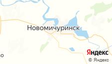 Гостиницы города Новомичуринск на карте