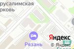Схема проезда до компании Шиномонтажная мастерская в Рязани