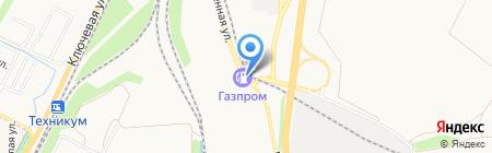 АЗС Газпром на карте Батайска