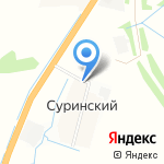 Суринская на карте Ярославля
