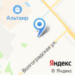 Кузовной центр на Волгоградской на карте Ярославля