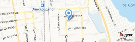 Магазин овощей и фруктов на ул. Лермонтова на карте Батайска