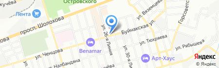 Таверна на карте Ростова-на-Дону